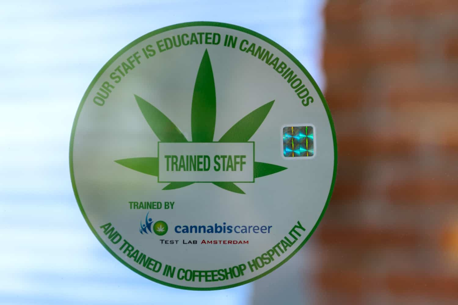 Coffeeshop Johnny raising the Awareness of our customers via our Cannabis Career & Test Lab Amsterdam trained staff