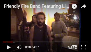 Coffeeshop Johnny appearing in the Friendly Fire Band featuring Lion Art