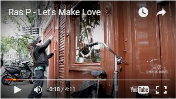 """Coffeeshop Johnny appearing in Ras P's """"Let's Make Love"""" video"""