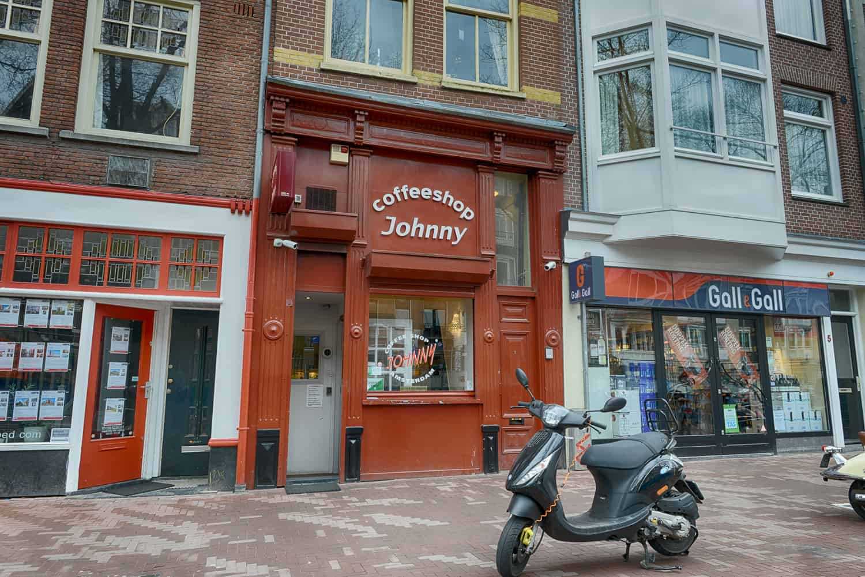 Coffeeshop Johnny at Elandsgracht 3 Amsterdam.